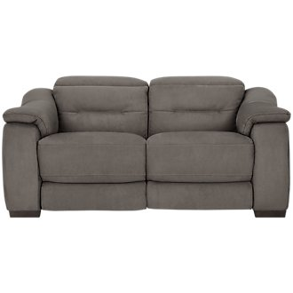 Kent Dark Gray Microfiber Power Reclining Loveseat