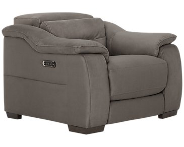 Kent Dark Gray Microfiber Power Recliner