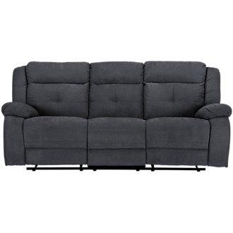 Pierce Dark Gray Microfiber Reclining Sofa