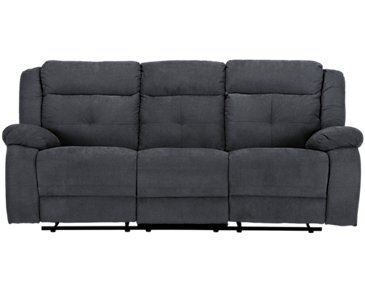 Pierce Dark Gray Microfiber Reclining Sofa
