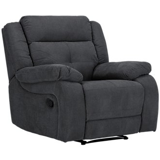 Pierce Dark Gray Microfiber Recliner