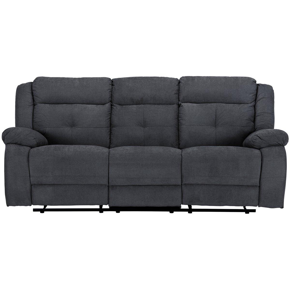 City Furniture Pierce Dark Gray Microfiber Power Reclining Sofa