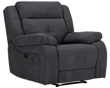 Pierce Dark Gray Microfiber Power Recliner
