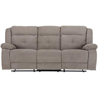 Pierce Taupe Microfiber Reclining Sofa