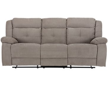 Pierce Taupe Microfiber Reclining Sofa