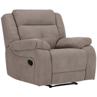Pierce Taupe Microfiber Recliner