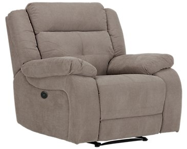 Pierce Taupe Microfiber Power Recliner