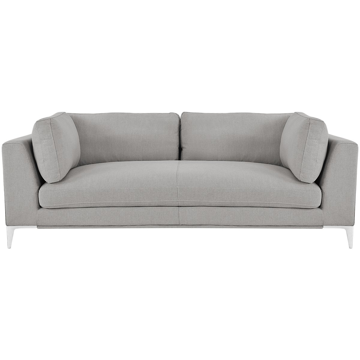 City Furniture: Madison Gray Fabric Small Right Chaise Sectional