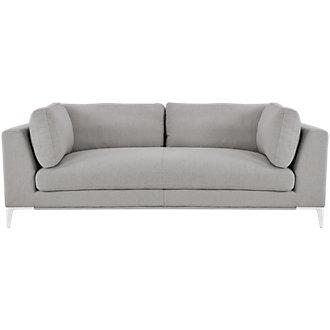 Madison Gray Fabric Sofa