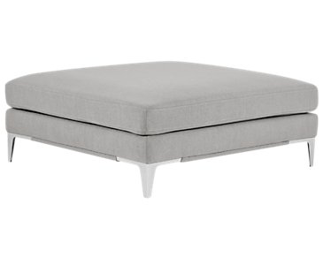 Madison Gray Square Cocktail Ottoman