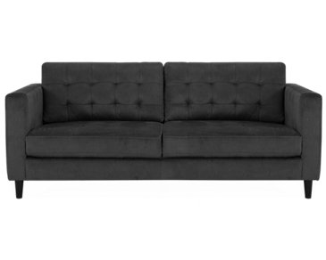 Shae Dark Gray Microfiber Sofa