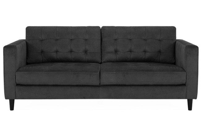 Shae Dark Gray Microfiber Sofa