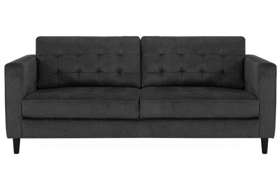 Shae Dark Gray Microfiber Sofa | Living Room - Sofas | City ...