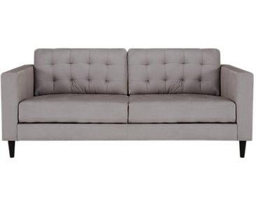 Shae Light Gray Microfiber Sofa