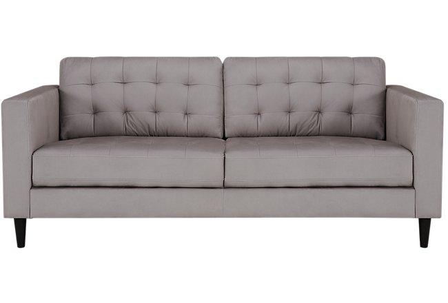 Shae Light Gray Microfiber Sofa | Living Room - Sofas | City Furniture
