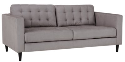 Shae Light Gray Microfiber Sofa. VIEW LARGER