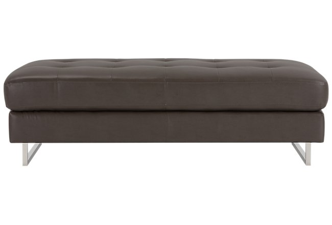 Tatiana Dark Gray Microfiber Cocktail Ottoman