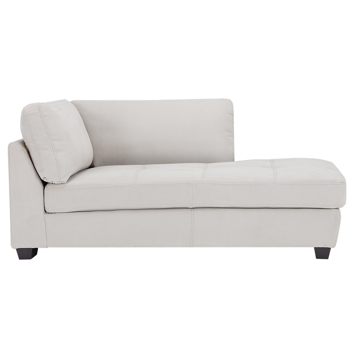 City Furniture Perry Light Gray Microfiber Right Chaise