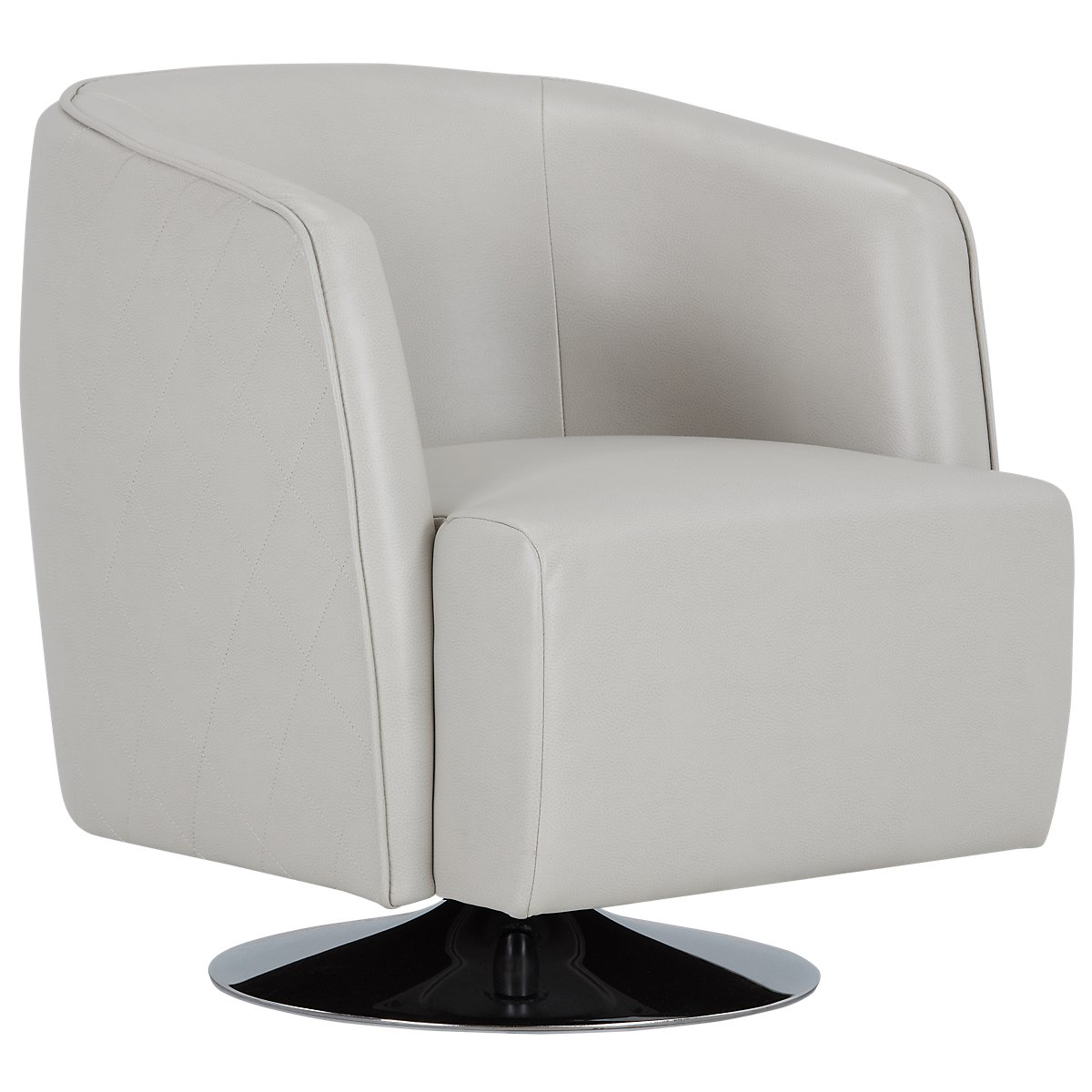Light Grey Accent Chair: Alec Light Gray Microfiber Swivel Accent Chair