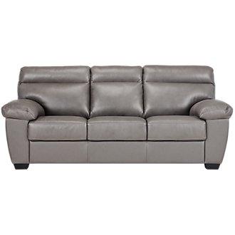 Devon Gray Leather Sofa