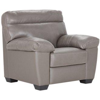 Devon Gray Leather Chair