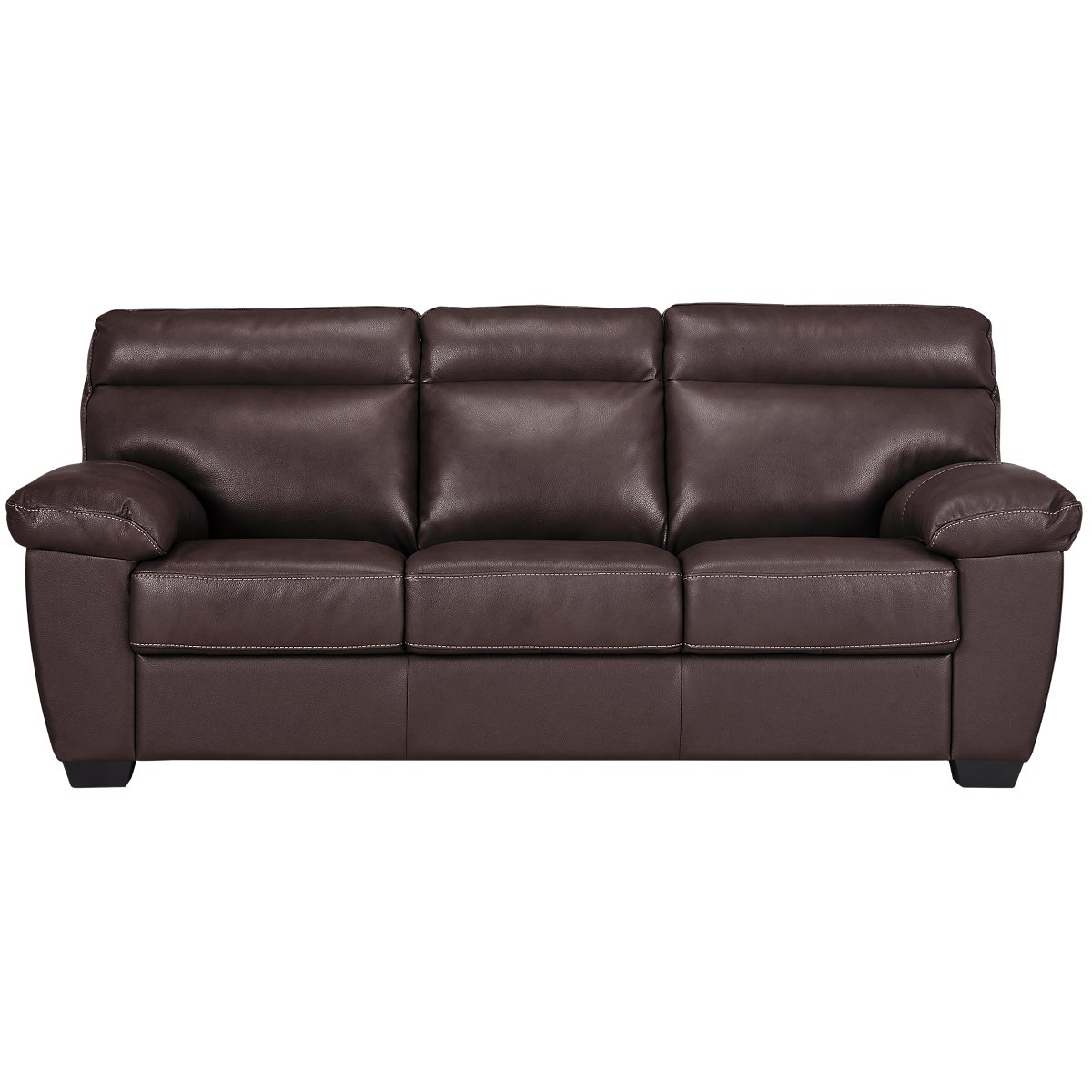 devon dark brown leather sofa