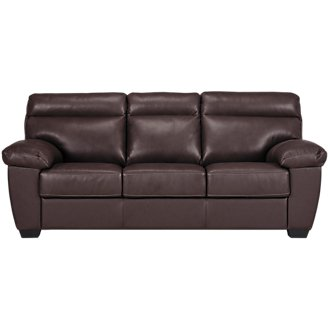 Devon Dark Brown Leather Sofa