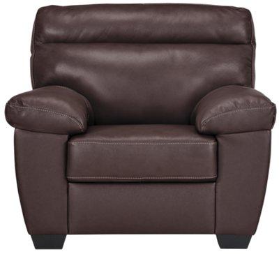 Beau Devon Dark Brown Leather Chair U0026 Ottoman. VIEW LARGER