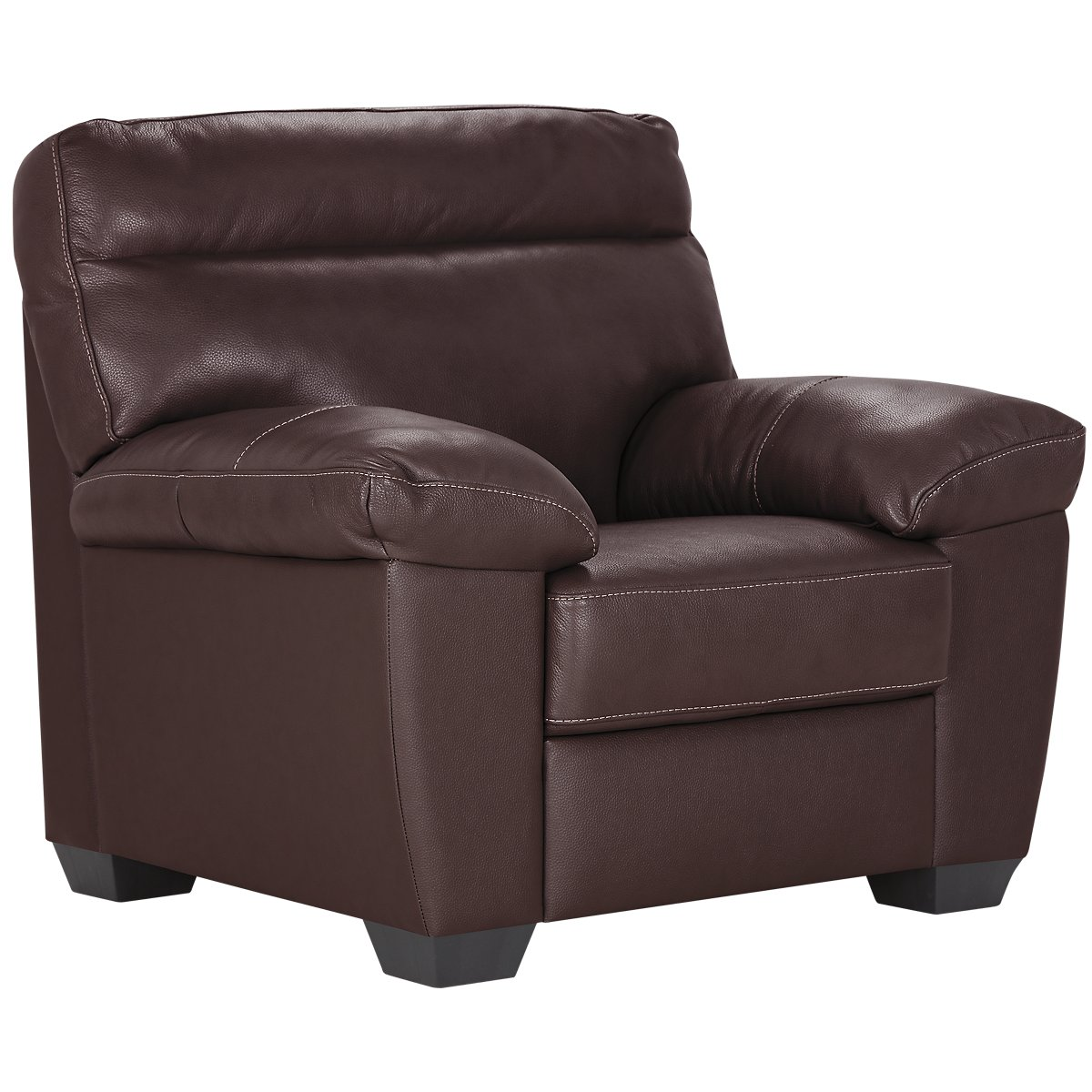 Leather chair and a half recliner - Devon Dark Brown Leather Chair
