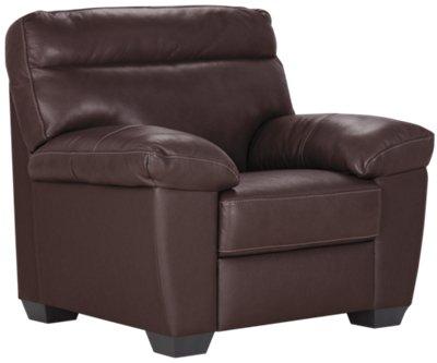 Charmant Devon Dark Brown Leather Chair U0026 Ottoman