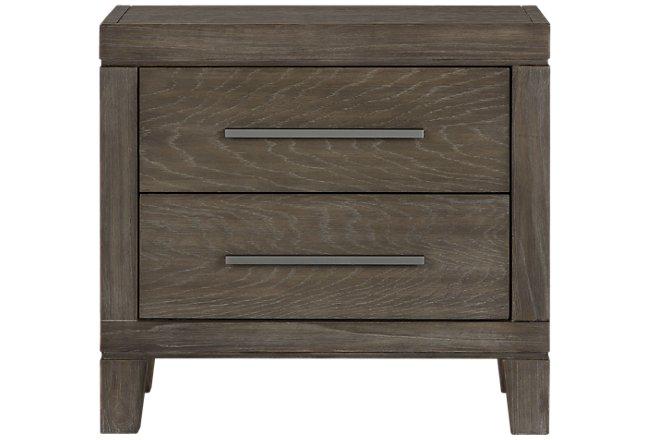 Bravo Dark Tone Wood 2-drawer Nightstand