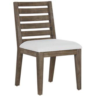 Bravo Dark Tone Wood Slat Side Chair