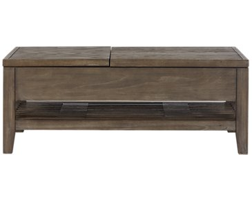 Bravo Dark Tone Rectangular Lift Coffee Table