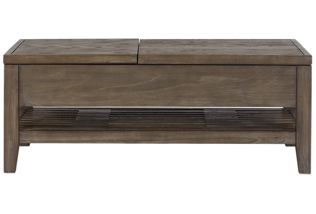 Lift Coffee Table.Bravo Dark Tone Wood Lift Coffee Table