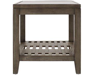 Bravo Dark Tone Square End Table