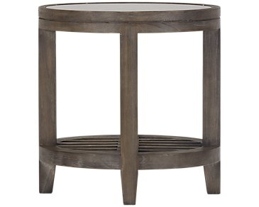 Bravo Dark Tone Round End Table