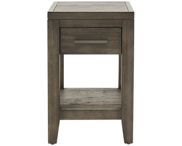 Bravo Dark Tone Square Chairside Table