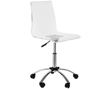 Chloe Acrylic Swivel Desk Chair