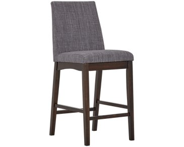 "Hayden Dark Gray 24"" Upholstered Barstool"