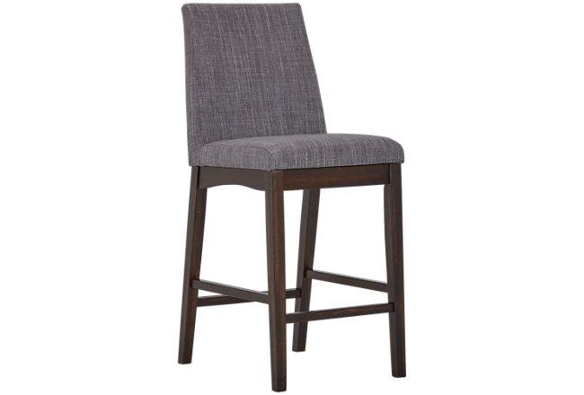 """Hayden Dark Gray Upholstered 24"""" Upholstered Barstool"""