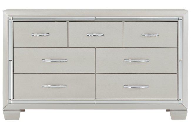 Platinum Silver Wood Dresser