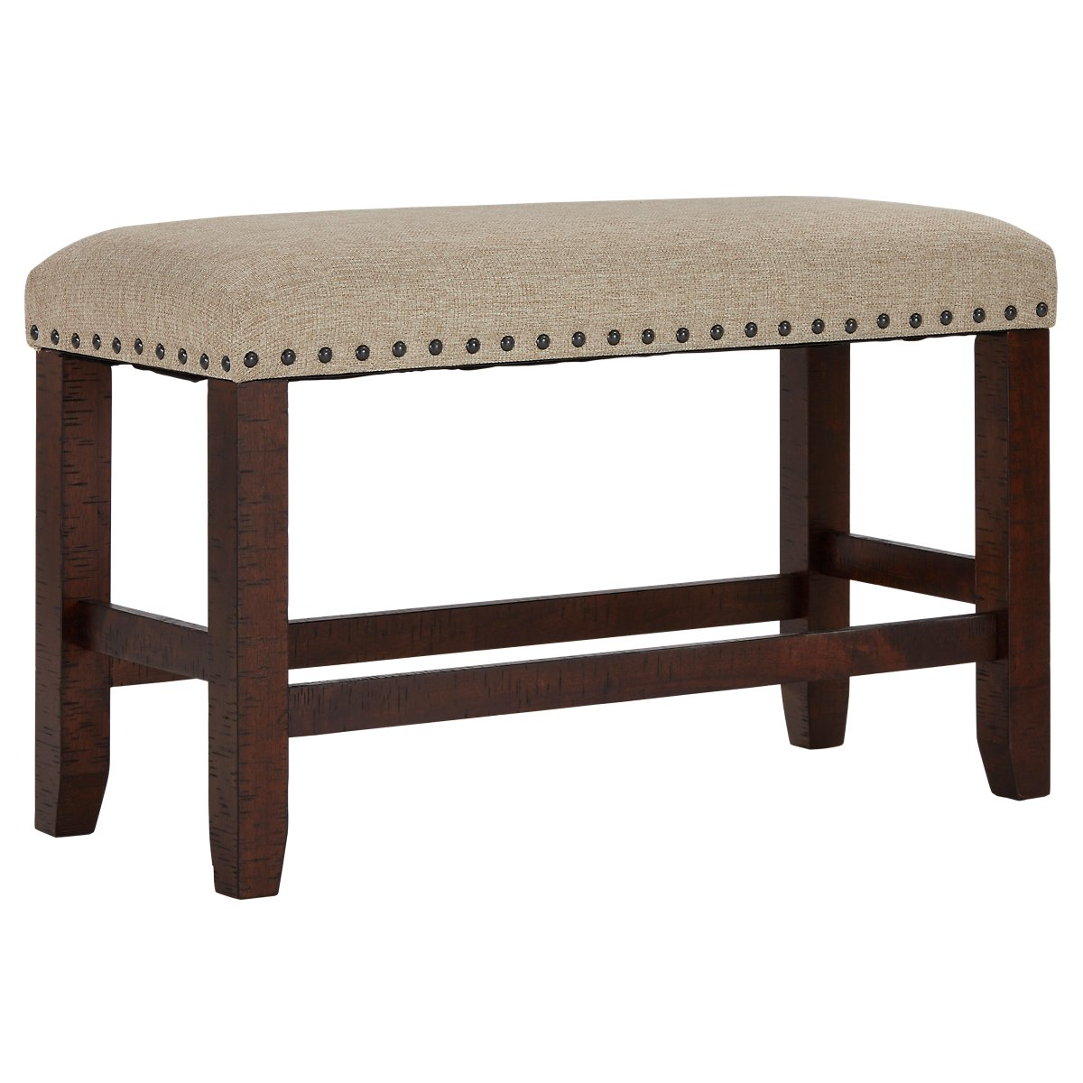 "Upholstered Bench Beige: Jax Beige Upholstered 24"" High Dining Bench"