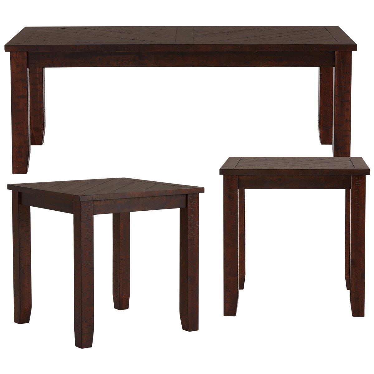 Jax Dark Tone Wood 3 Pack Tables