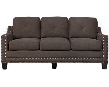 Malone Dark Gray Microfiber Small Sofa