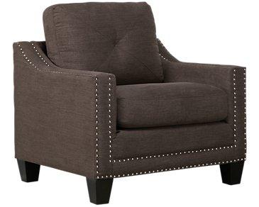 Malone Dark Gray Microfiber Chair