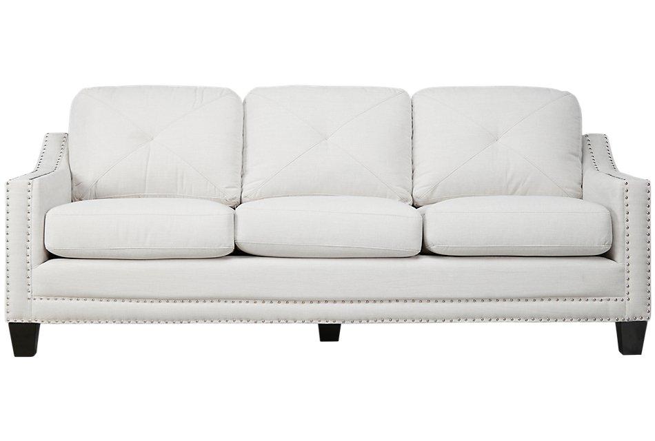 """Malone 90"""" Beige Micro Sofa"""
