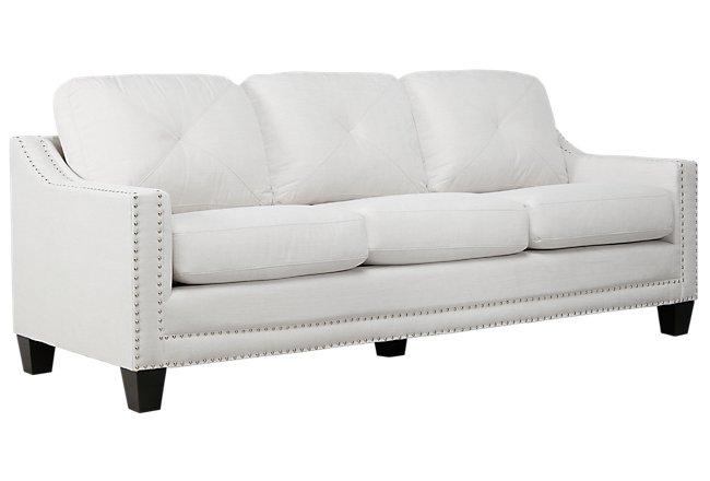 Malone Beige Microfiber Large Sofa