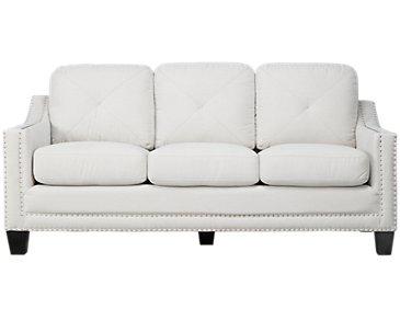 Malone Beige Microfiber Small Sofa