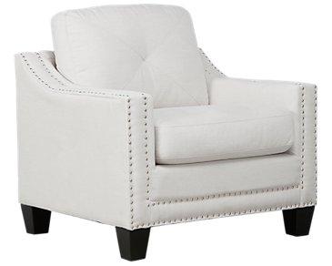 Malone Beige Microfiber Chair