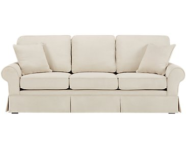 Reese White Large Sofa
